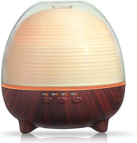 Diffusore di Oli Essenziali 400ml Umidificatore Ultrasuoni con Cambio di 7 luci a LED a Colori Diffusore di Aromi Auto spegnimento Senza Acqua per Camera da Letto,casa e Ufficio,Senza BPA,Bianco