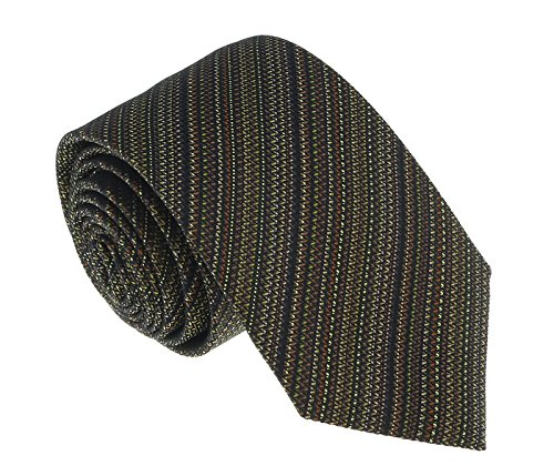Missoni U5055 Gold/Brown Sharkskin 100% Silk Tie for (Mens Brown Sharkskin)