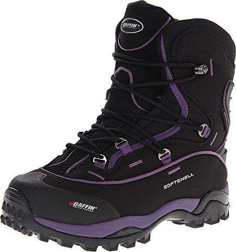 Baffin Women's Snosport Hiking Boot,Black/Plum,11 M US