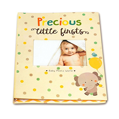 [Baby Memory Book for First Five Years, Record Your Child's Development in a Keepsake Journal, For Boys and Girls, Modern Photo Album and Baby Shower Guestbook, 9 Inch x 11.5 Inch] (Animals That Start With The Letter A)