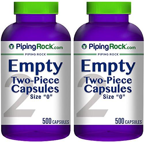 Piping Rock Capsules Bottles Gelatin