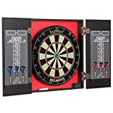 eastpoint sports belmont bristle dartboard and cabinet set - features easy assembly - complete with