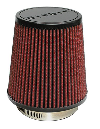 Airaid 700-452 Universal Clamp-On Air Filter: Round Tapered; 3.5 in (89 mm) Flange ID; 6 in (152 mm) Height; 6 in (152 mm) Base; 4.625 in (117 mm) Top