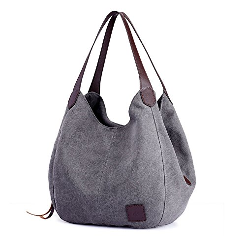Shoulder Christmas Handbags pocket Bags Prime Girls Grey Canvas Multi Deals Totes Teen Travel Cotton for Purses Clearance Fashion Casual Day Week 2018 Women's Gifts Sale 6OvcqH64rZ