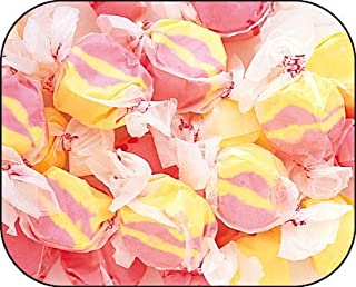 product image for Strawberry & Banana (Pink & Yellow) Gourmet Salt Water Taffy 1 Pound Bag