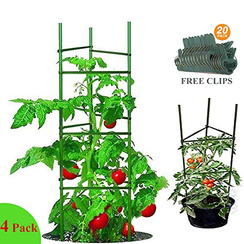YIDIE 5ft-4Pack Tomato Cage Garden Plant Stakes Vegetable Trellis for