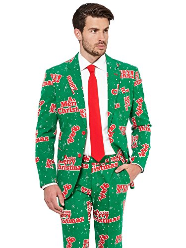 OppoSuits Men's Happy Holidude-Party Costume Suit, 40