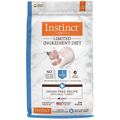 Instinct Limited Ingredient Diet Grain Free Recipe with Real Turkey Natural Dry Dog Food by Nature's Variety, 22 lb. (Grain Free Turkey)