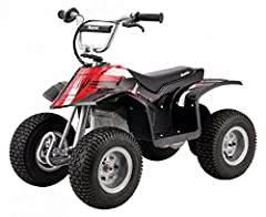 When the backyard becomes too groomed and the sidewalk too smooth, the Dirt Quad enters with unlimited adventure. The four-wheel Dirt Quad is built strong and sturdy to conquer tough trails and big bumps. Maximum weight: 120lbs, Ages: 8 and u...