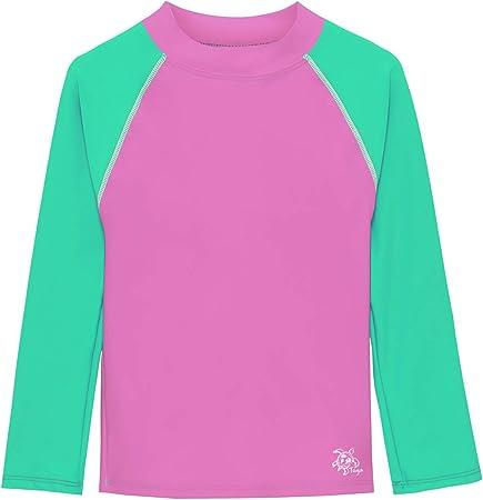 UPF 50 Sun Protection Swim Shirt Tuga Girls Long Sleeve Rash Guard 2-14 Years