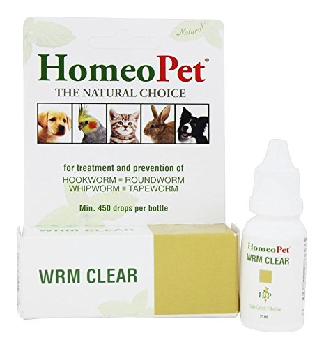 Homeopet Wrm Clear For Dog Or Cat