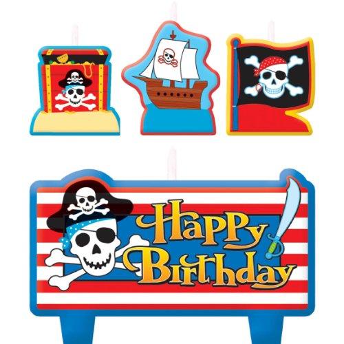 Pirate's Treasure Birthday Candle Set