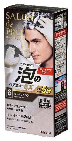研究メッシュ判決サロンドプロ 泡のヘアカラーEX メンズスピーディ(白髪用) 6<ダークブラウン> × 30個セット
