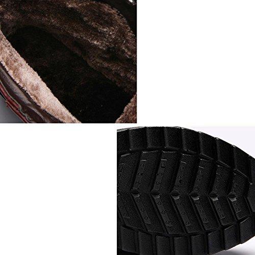 Casual RED Hembra 37 de tobillo RED botas caliente Martin peluche 40 piel gruesos hebilla soporte wdjjjnnnv cordones talón zapatos corto bajo PUdxUFT