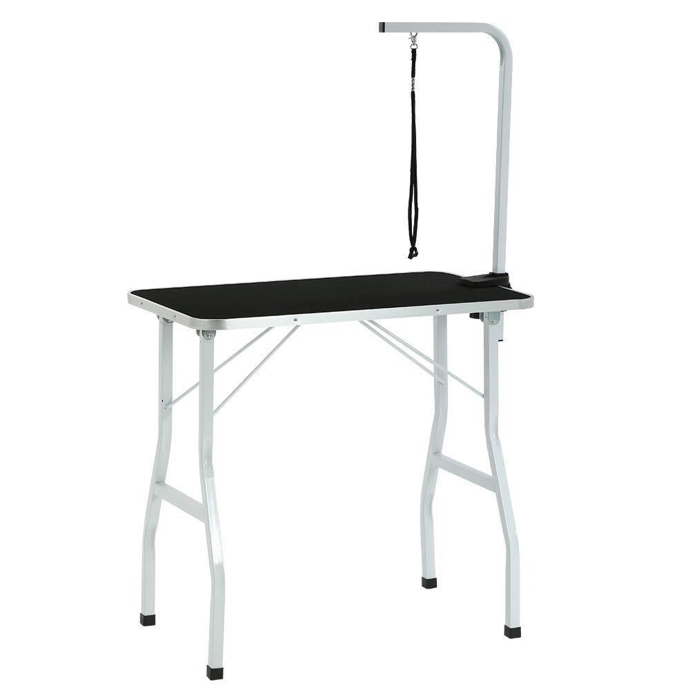 BestPet Dog Grooming Table Adjustable Heavy Duty Pet Cat Grooming Table with Arm/Noose (36'') by BestPet