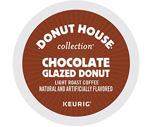 Donut House Collection Chocolate Glazed Donut, Keurig K-Cups, 72 Count