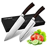 Knife Set,2-Piece Kitchen Knife,8'' Chef Knife & 7'' Santoku Knife,Germany 5Cr15Mov High Carbon Stainless Steel,Chef Knife Set