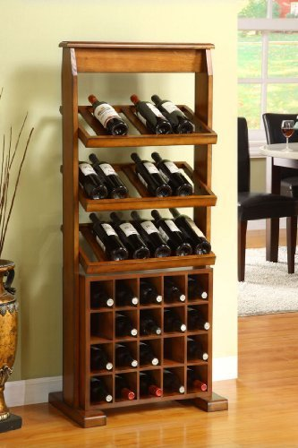 Guarda Antique Oak 38-bottle Wine Rack by 247SHOPATHOME