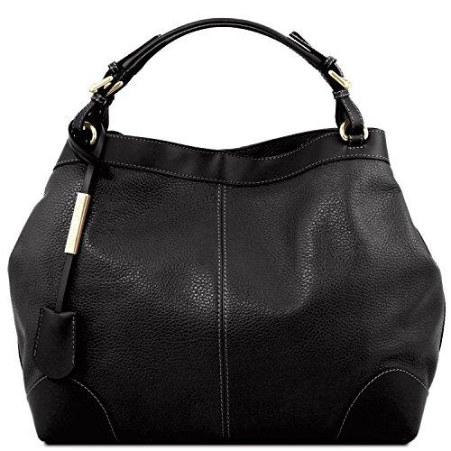 Nude Leather Tracolla In Ambrosia Borsa Nero Con Pelle Tuscany Morbida p0w8R4d8q