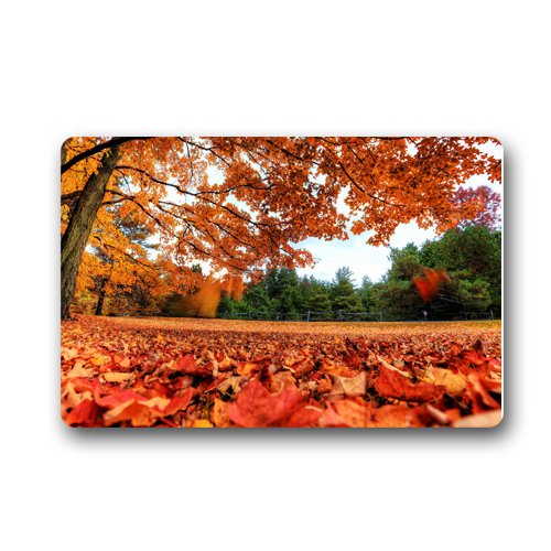 Natural Scenery Autumn Maple Leaves Fall Non-slip mats doormat