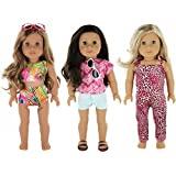 "PZAS Toys American Girl Doll Travel Clothes - 9 Pc. Doll Clothes Set for American Girl Doll or 18"" Doll"