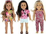 PZAS Toys 9 Piece Doll Travel Clothes Set for 18 inch Doll