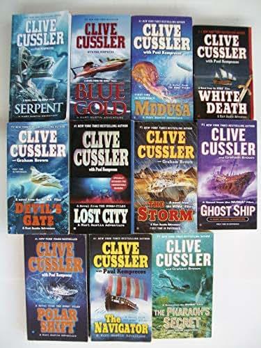 Numa Files Series (Set of 11) Serpent, Blue Gold, White Death, Lost City, Polar Shift, Navigator, Medusa, Devil's Gate, Storm, Ghost Ship, Pharaoh's Secret
