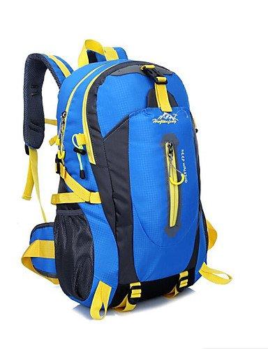 bleu  HWB  40L L Randonnée pack   sac à dos Camping & Randonnée   Escalade   Voyage de plein airEtanche   Séchage rapide   Zip étanche   Résistant à la