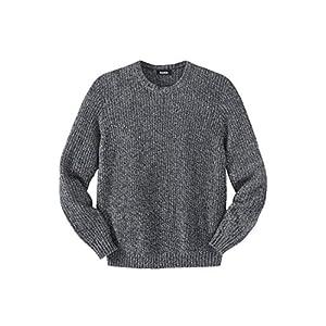 Kingsize Men's Big & Tall Shaker Knit Crewneck Sweater