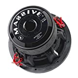 Massive Audio SUMMOXL104 - 10 Inch Car Audio 3000 Watt SUMMOXL Series Competition Subwoofer, Dual 4 Ohm, 2 Inch V.C