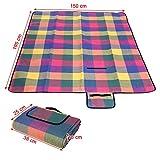 Songmics-195-x-150-cm-Picknickdecke-Campingdecke-wrmeisoliert-wasserdicht-mit-Tragegriff-GCM50K