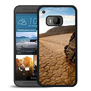 New Beautiful Custom Designed Cover Case For HTC ONE M9 With Nature Chapped Drought Phone Case