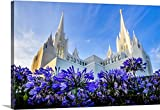 Scott Jarvie Gallery-Wrapped Canvas entitled San Diego California Temple, Blooming Flowers, San Diego, California