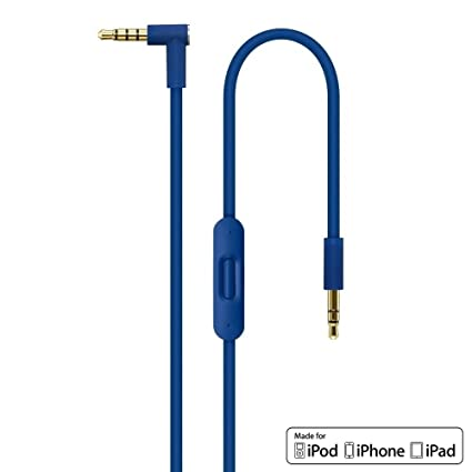(Azul) V2 Replacement Remote Talk Cable for Apple Beats by Dr Dre Monster Headphones