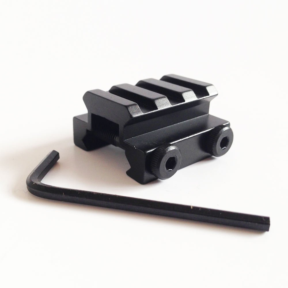 3 Slot 20mm Weaver Picatinny Rail Riser Mount for Rifle Scope Base UK