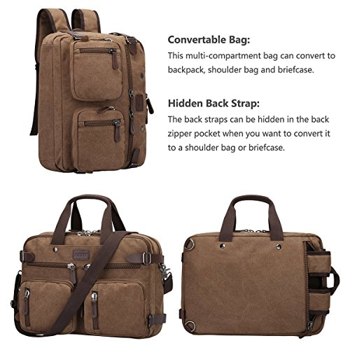 Zone Hombro Caqui Messenger Bag Multifunction Lienzo S Trio Cafe aqRdIqz