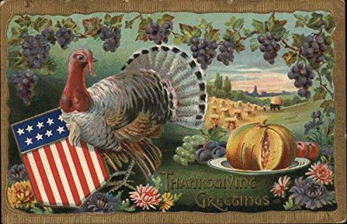 Thanksgiving Greetings Patriotic Original Vintage Postcard from CardCow Vintage Postcards