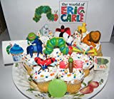 The Very Hungry Caterpillar and Friends from The World of Eric Carle Deluxe Cake Toppers Cupcake Decorations Set Featuring Caterpillar, Grouchy Lady Bug, Lonely Firefly and More!