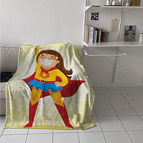 Maisi Lightweight Blanket, Courageous Little Girl with a