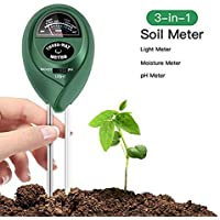 FYLINA 3 in 1 Soil Test Kit for Moisture, Light & pH/Acidity, Gardening Tools
