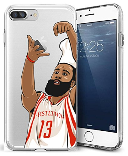 Nba Crystal (iPhone 7 Plus Case, Chrry Cases Ultra Slim [Crystal Clear] [NBA Player] Soft Transparent TPU Case Cover for Apple iPhone 7 Plus (5.5) - CHEF HARDEN)