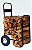 Firewood Hand truck Cart With Cover 250 lb Capacity - pneumatic wheels