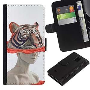 All Phone Most Case / Oferta Especial Cáscara Funda de cuero Monedero Cubierta de proteccion Caso / Wallet Case for Samsung Galaxy S5 Mini, SM-G800 // Art Woman Drawing Watercolor