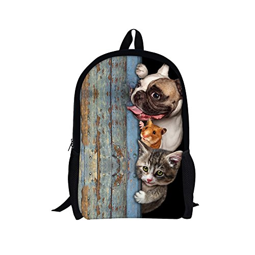 Cynthia Doll Costume (TOREEP Creative Cat Dog Printed Multifunctional Men Women Casual Backpack(Small))