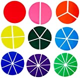 School Smart Fraction Circles - Set of 51 - Assorted Colors