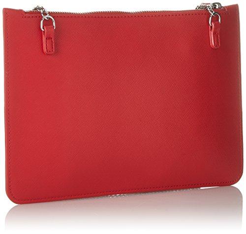 Pu x cm B Moschino Rojo Borsa Red Love y de Rosso Shoppers 1x17x21 Mujer bolsos T hombro H Eq4nZ