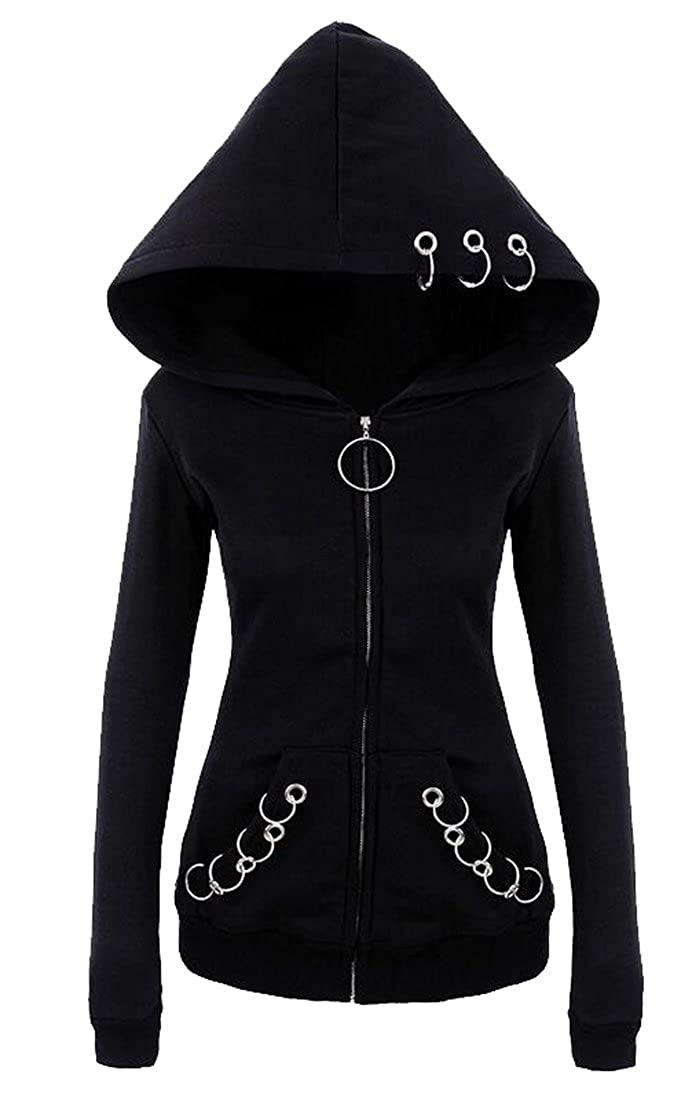 Nanquan-women clothes NQ Women's Outwear Vintage Gothic Style Hoodie Jacket Coat