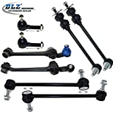 DLZ 8 Pcs Suspension Kit-2 Front Lower Control Arm & Ball Joint Assembly, 2 Front Outer Tie Rod End, 2 Front 2 Rear Sway Bar for 1993-1997 Chrysler Concorde/Intrepid, Dodge Intrepid/Eagle Vision