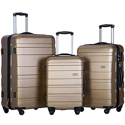 Merax Afuture 3 Piece Hardshell Spinner Luggage Set