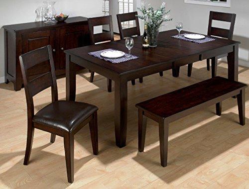 Jofran 97277, Dark Rustic Prairie Dining Table Withbutterfly Leaf